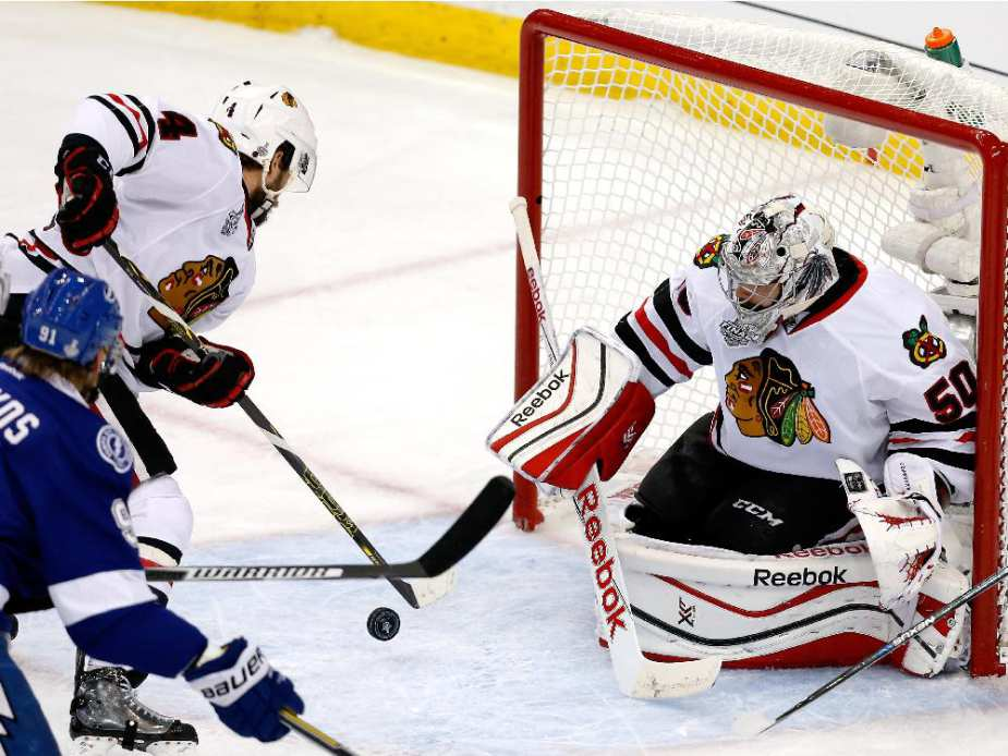 Blackhawks Cup Hopes Lie on Corey Crawford