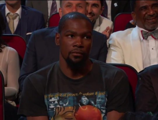 Kevin Durant is Unamused by Peyton Manning
