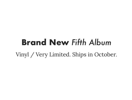 Brand New Announces Fifth Album