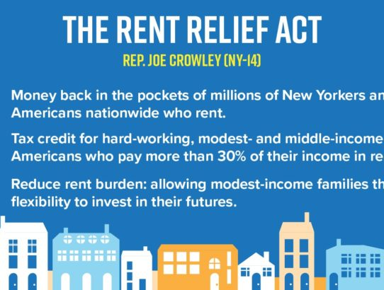 Joe Crowley Introduces Rent Relief Act